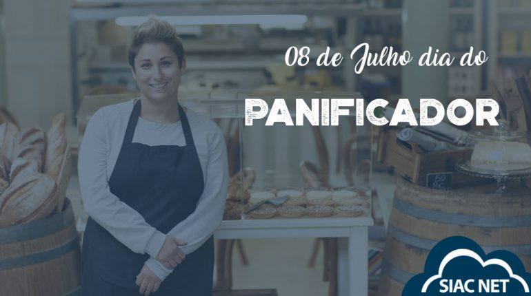 Banner Dia do Panificador com mulher em sua panificadora
